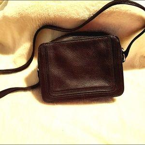 Liz Claiborne Sml Brown Leather Crossbody Purse